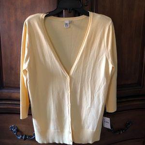 14th & Union Yellow 3-4 sleeve sweater